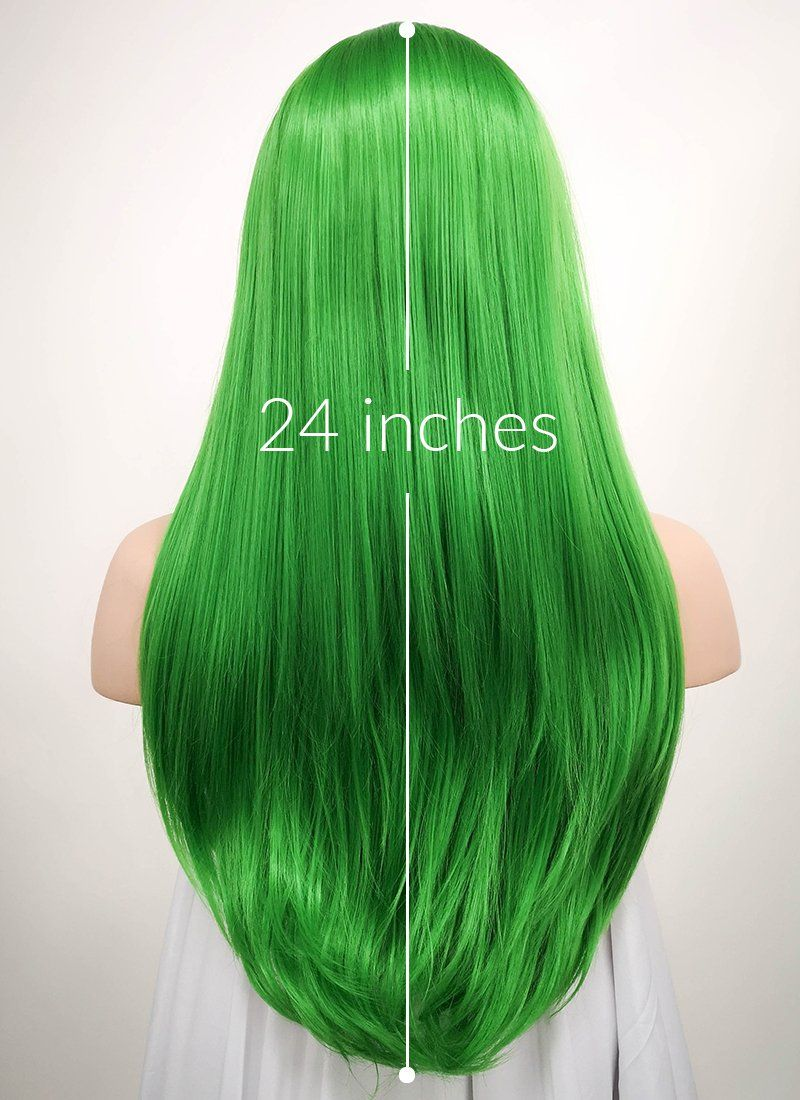 Straight Green Lace Front Synthetic Wig Lf031 Green Lace