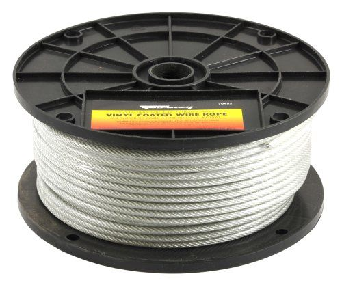 Forney 70452 Wire Rope Vinyl Coated Aircraft Cable 250 Feet By 1 8 Inch Through 3 16 Inch Forney Https Www Amazon Ca Dp B003yd Forney Cable Wire Galvanized
