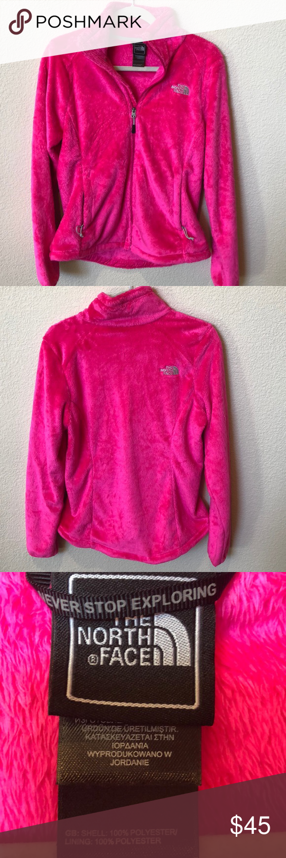 Pink Fuzzy North Face Jacket This Jacket Is So Soft As Warm Bright Pink And In Great Condition The North Face North Face Jacket The North Face Clothes Design [ 1740 x 580 Pixel ]