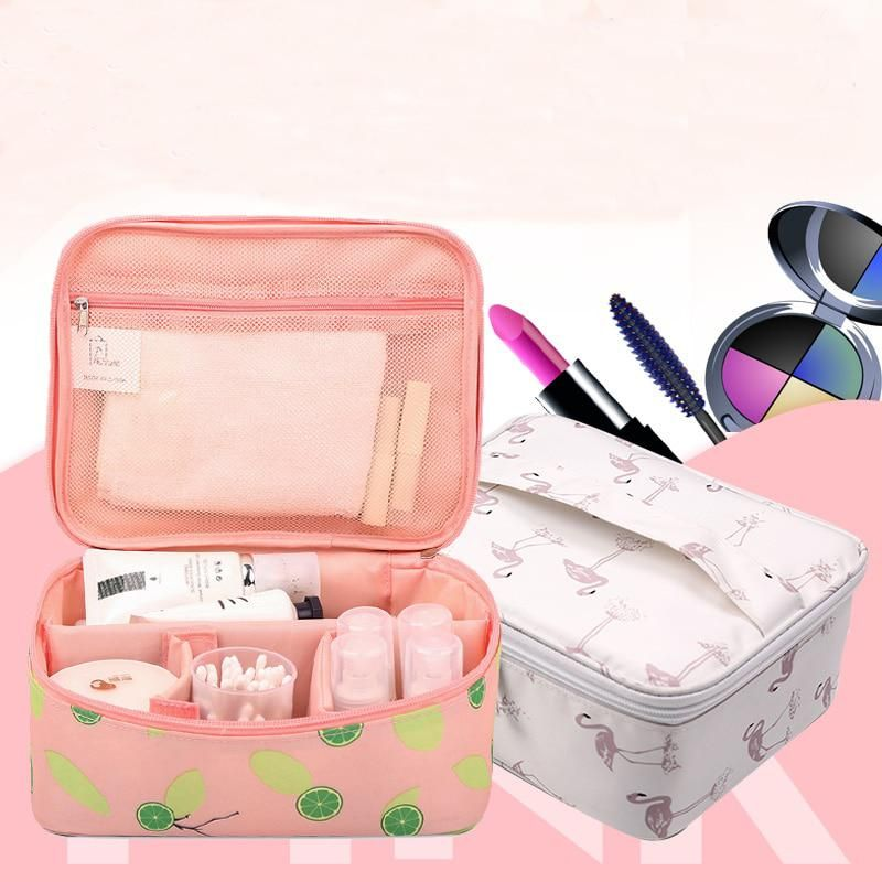 dd7cbb826a68 New Zipper Women Makeup bag Big Capacity travel Cosmetic bagS beauty ...