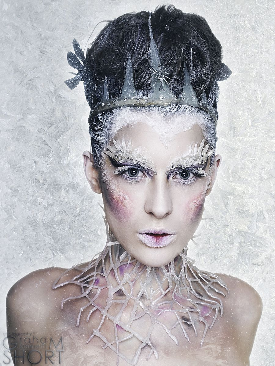 ice queen makeup and hair | Halloween | Pinterest | White witch ...