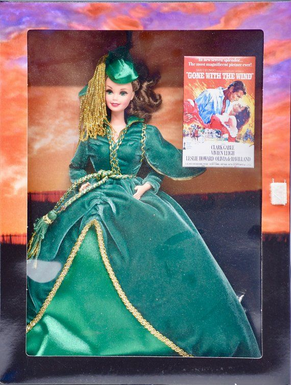 1994 - Mattel - Barbie as Scarlett O'Hara - Hollywood Legends Collection - Green Dress Scene - Collectible #hollywoodlegends