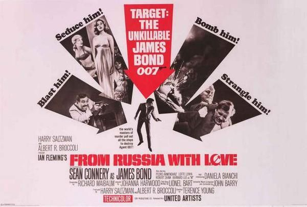 James Bond From Russia With Love Movie Poster 24x36 James Bond