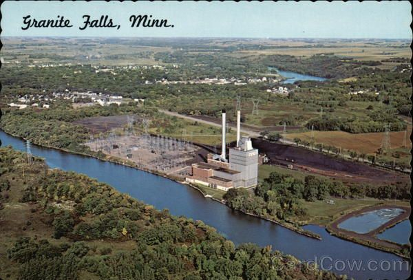 Granite Falls Minnesota Vintage Postcards Amp Images Granite Falls Minnesota Aerial View