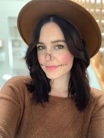 kelsey diane easy scarecrow makeup tutorial