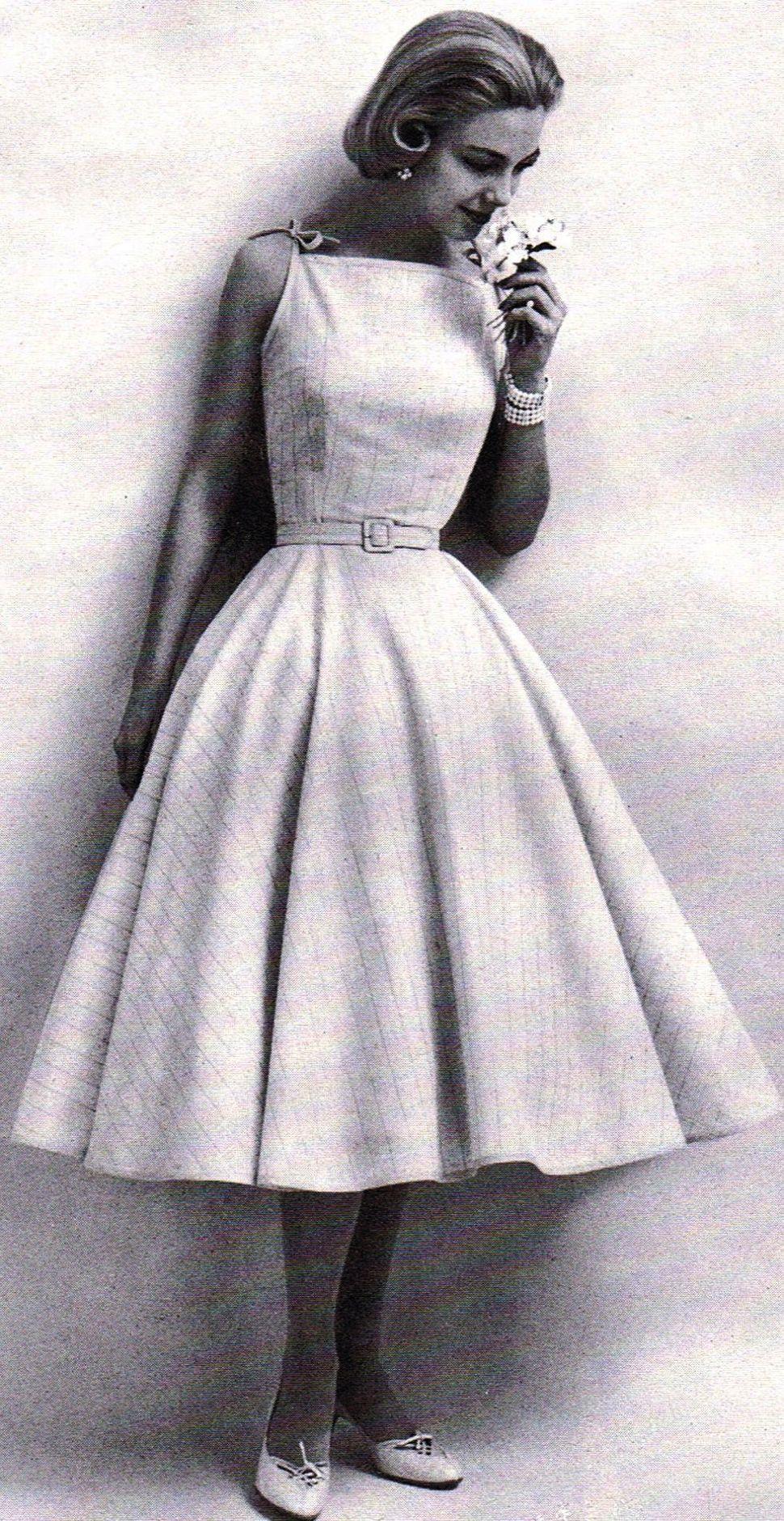 50's Style Audrey Hepburn Dress Vintage 1950's Pencil