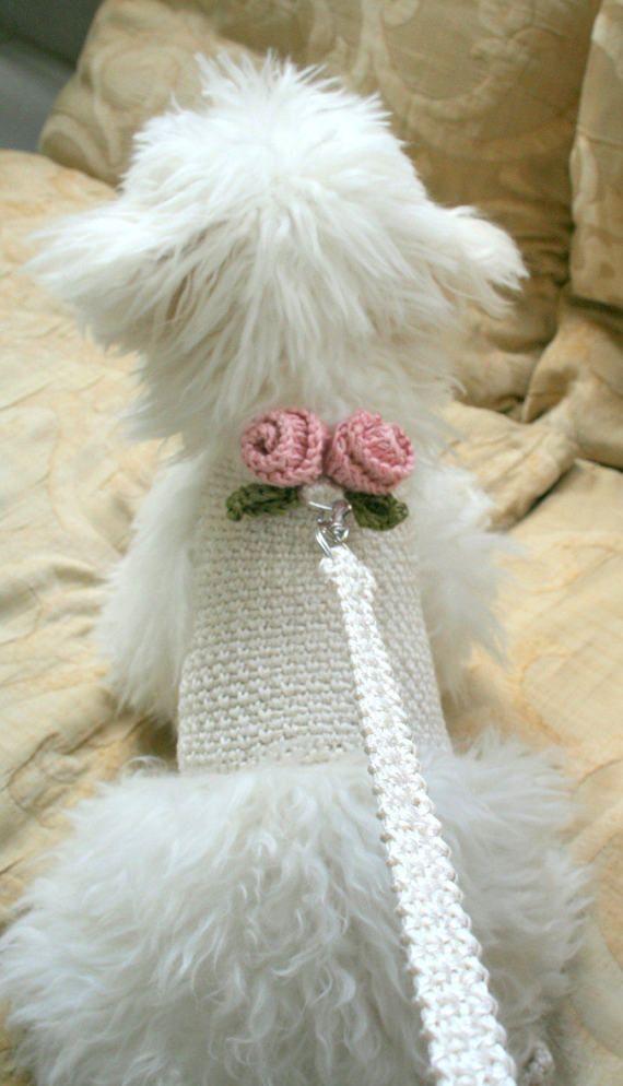 Dog clothes crochet, Dog harness, Pet clothing, Dog harness vest ...
