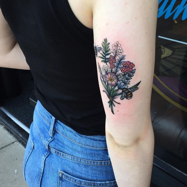 2e2301b93a86c Image result for wildflower bouquet tattoo | Appearance | Wildflower ...