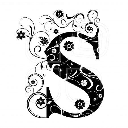 letter capital s alphabet arabic art