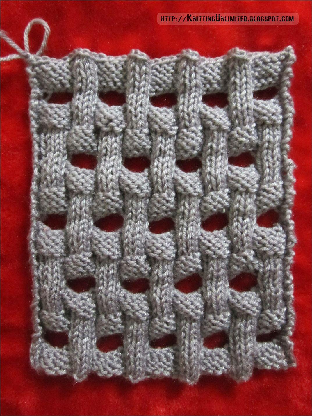 Openwork Basket Weave Knitting Pattern (Knitting Unlimited ...