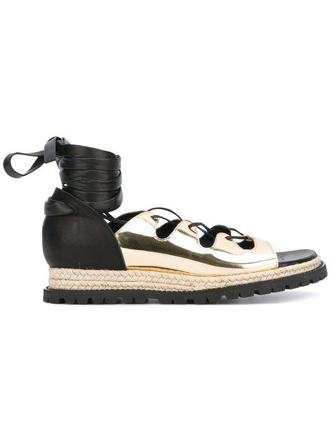 4d37d4be8fe8c SACAI lace up espadrille sandals. #sacai #shoes #sandals | Sacai ...