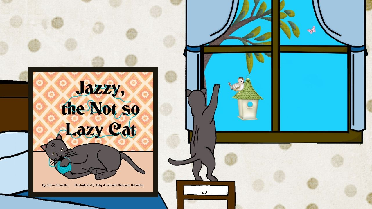 """Book Trailer """"Jazzy, the Not so Lazy Cat"""" Lazy cat"""