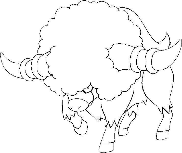 Dibujos para colorear Pokemon - Bouffalant - Dibujos Pokemon - best of pokemon coloring pages meganium