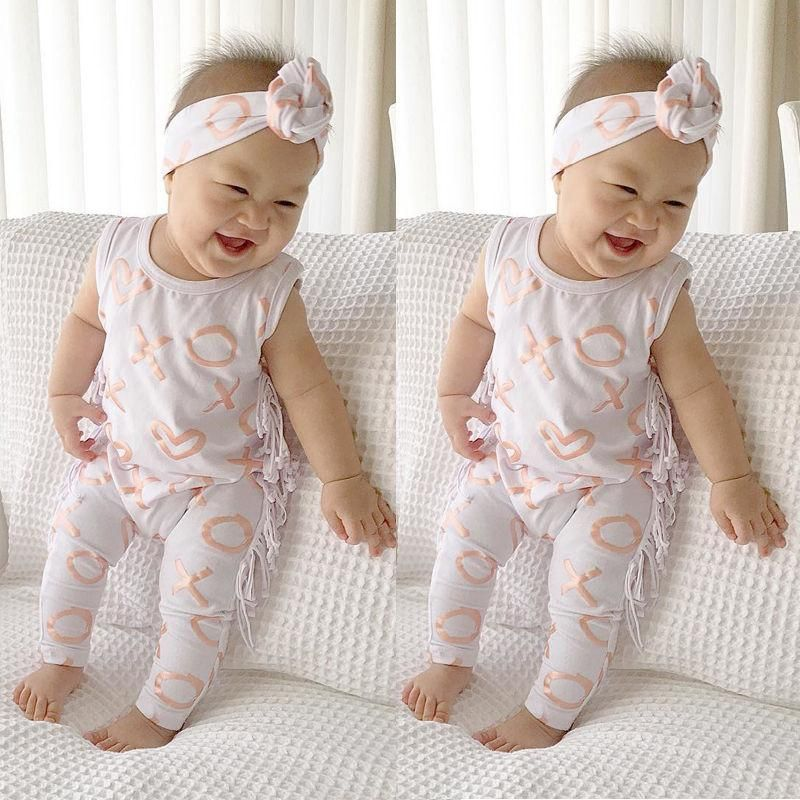 54cf523925c8 2017 Fashion Newborn Baby Girl Clothes Summer Sleeveless Tassel ...