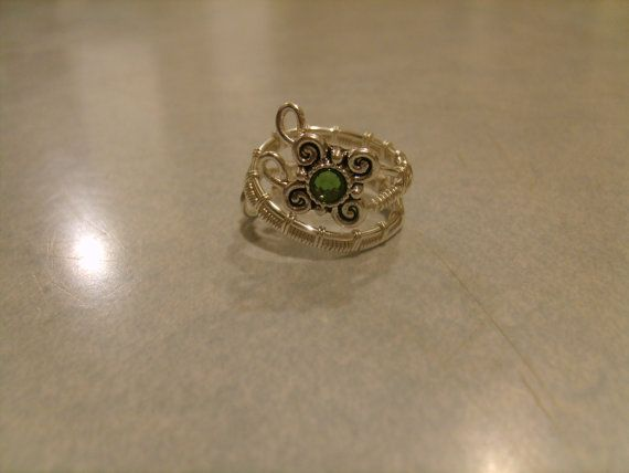 Adjustable Wire Wrapped Ring with a Butterfly by glamourbeads, $15.00