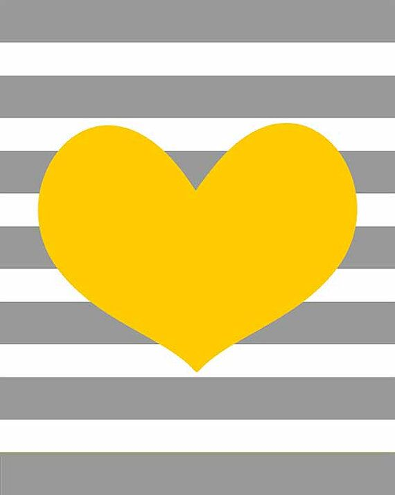 Sale 50 Off Yellow Heart On Gray Stripe By Curryonthecouch 6 00 Iphone Wallpaper Yellow Yellow Heart Striped Background