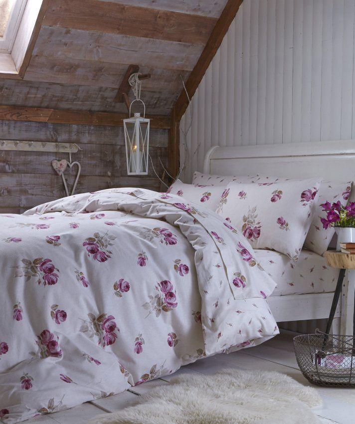 Posciel Dwustronna Flanelowa Brushed Floral 135x200 50x75cm Dekoria Cotton Baby Sheets Baby Sheets Flannelette Sheets