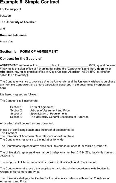 Simple Contract Example | Templates&Forms | Pinterest