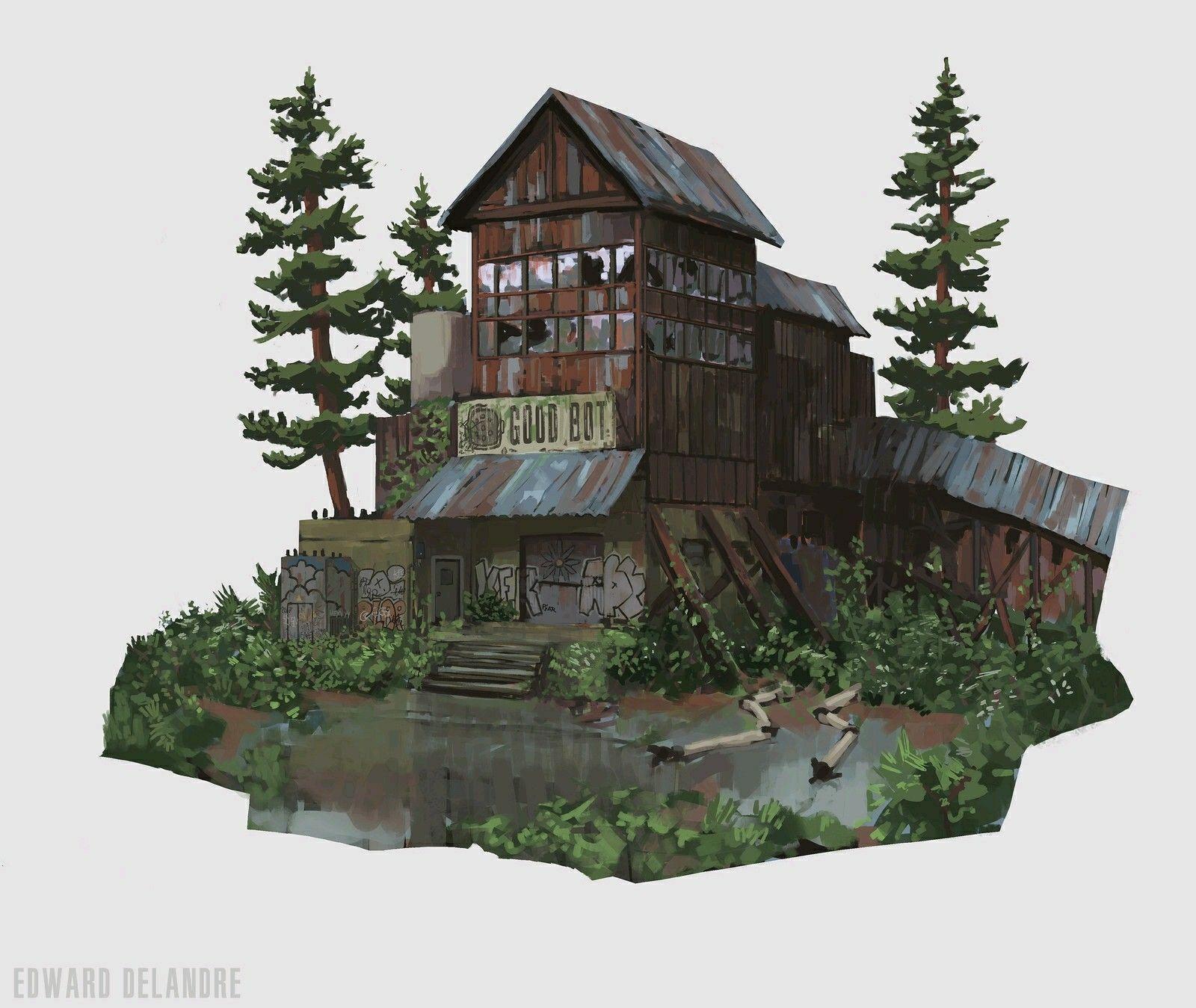 Good Bot and hotel  https://www.artstation.com/p/WbBg3 Edward Delandre Concept artist  - Eugen Systems -- Share via Artstation Android App, Artstation © 2017