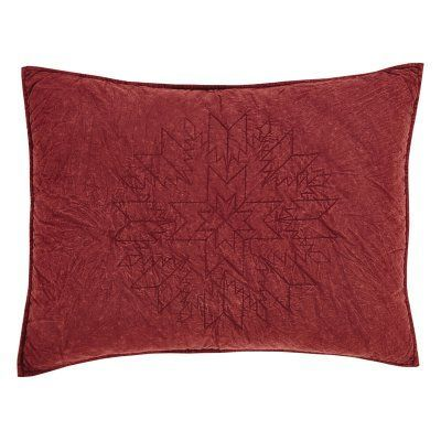 Cheyenne Sham by VHC Brands American Red - 25656