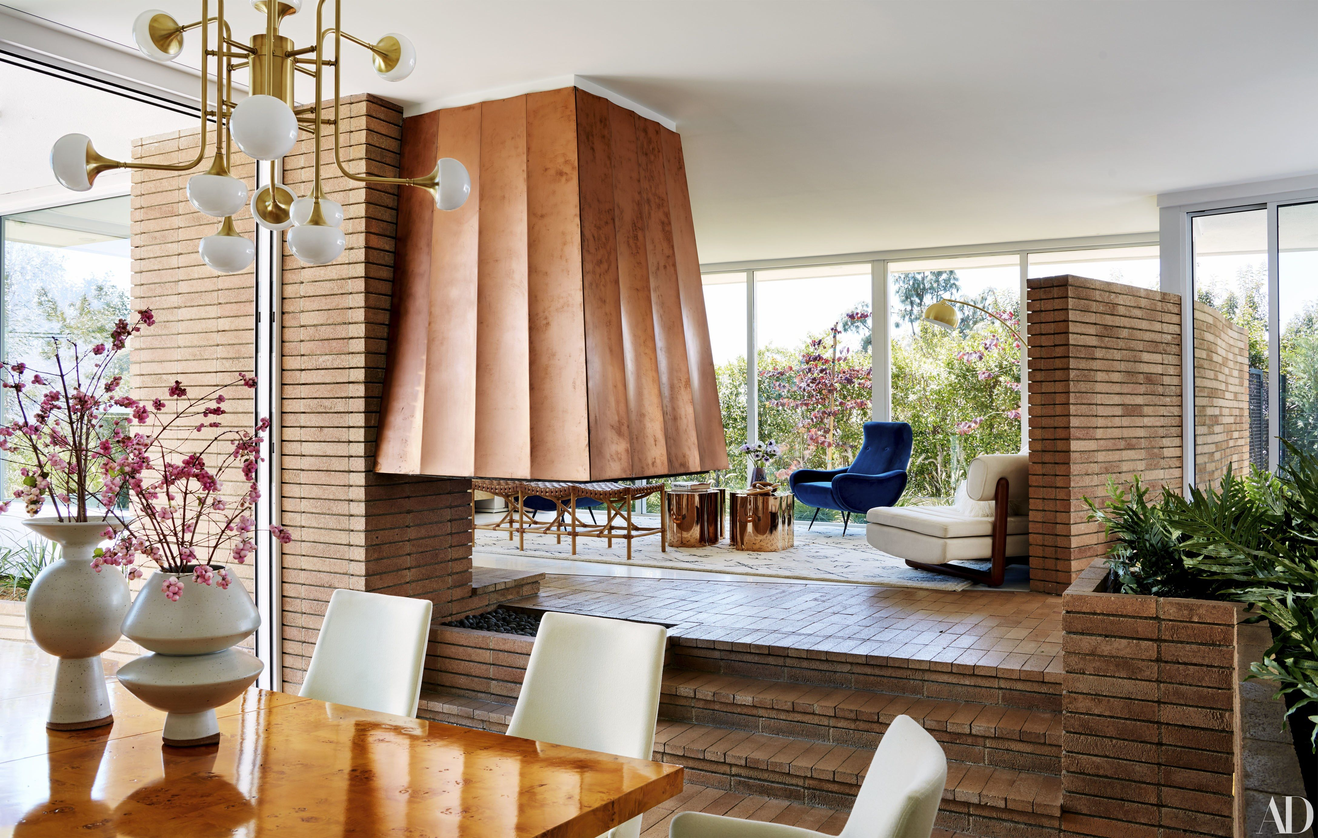 Inside mandy moore   pasadena home photos architectural digest ahhhh sadena  love you and how that brick wall in the upper right is also interiors pinterest rh