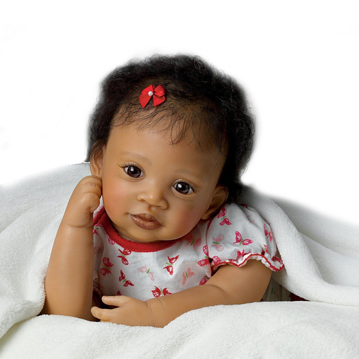 """Amazon.com - Ashton-Drake Interactive Baby Doll By Waltraud Hanl: Sweet Butterfly Kisses - 19"""" By The Ashton-Drake Galleries -"""