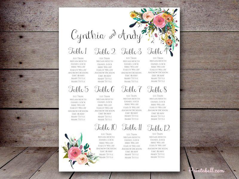 Editable Wedding Charts  X   Printabell  Wedding  Wedding