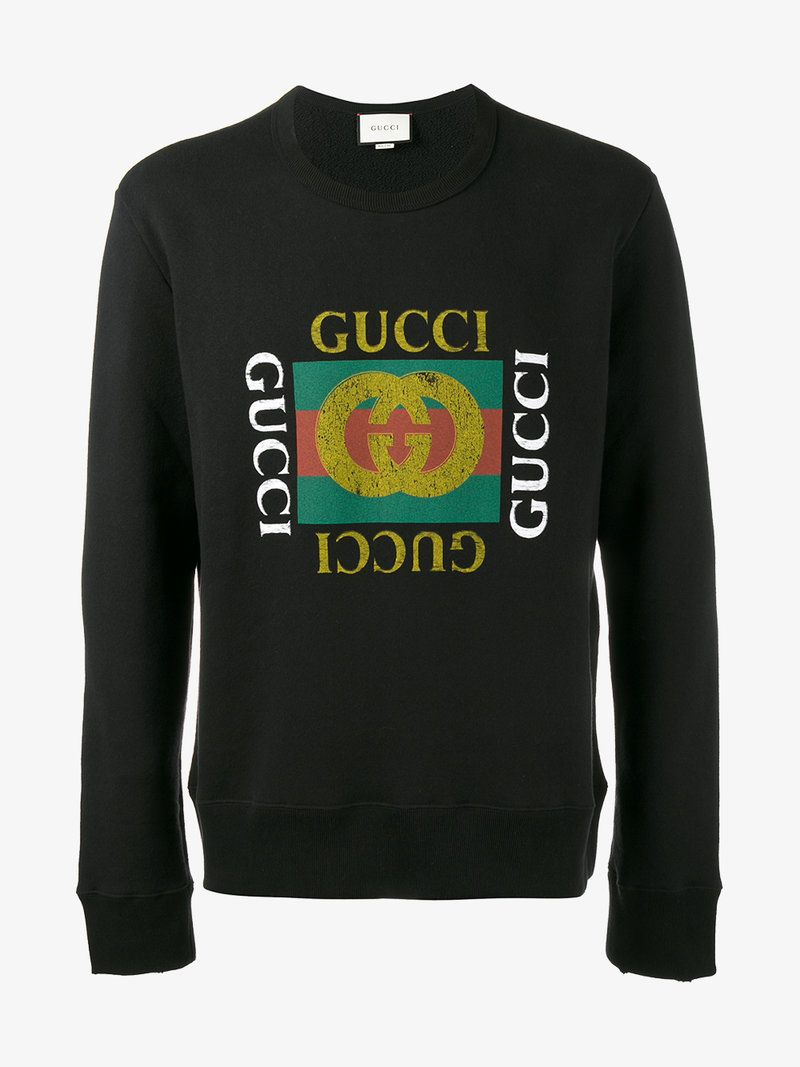 Gucci Fake Logo Sweatshirt Gucci Cloth Gucci Men Pinterest