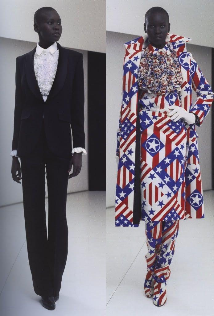 Alek Wek at viktor & rolf autumn/winter 2000-01; stars & stripes collection