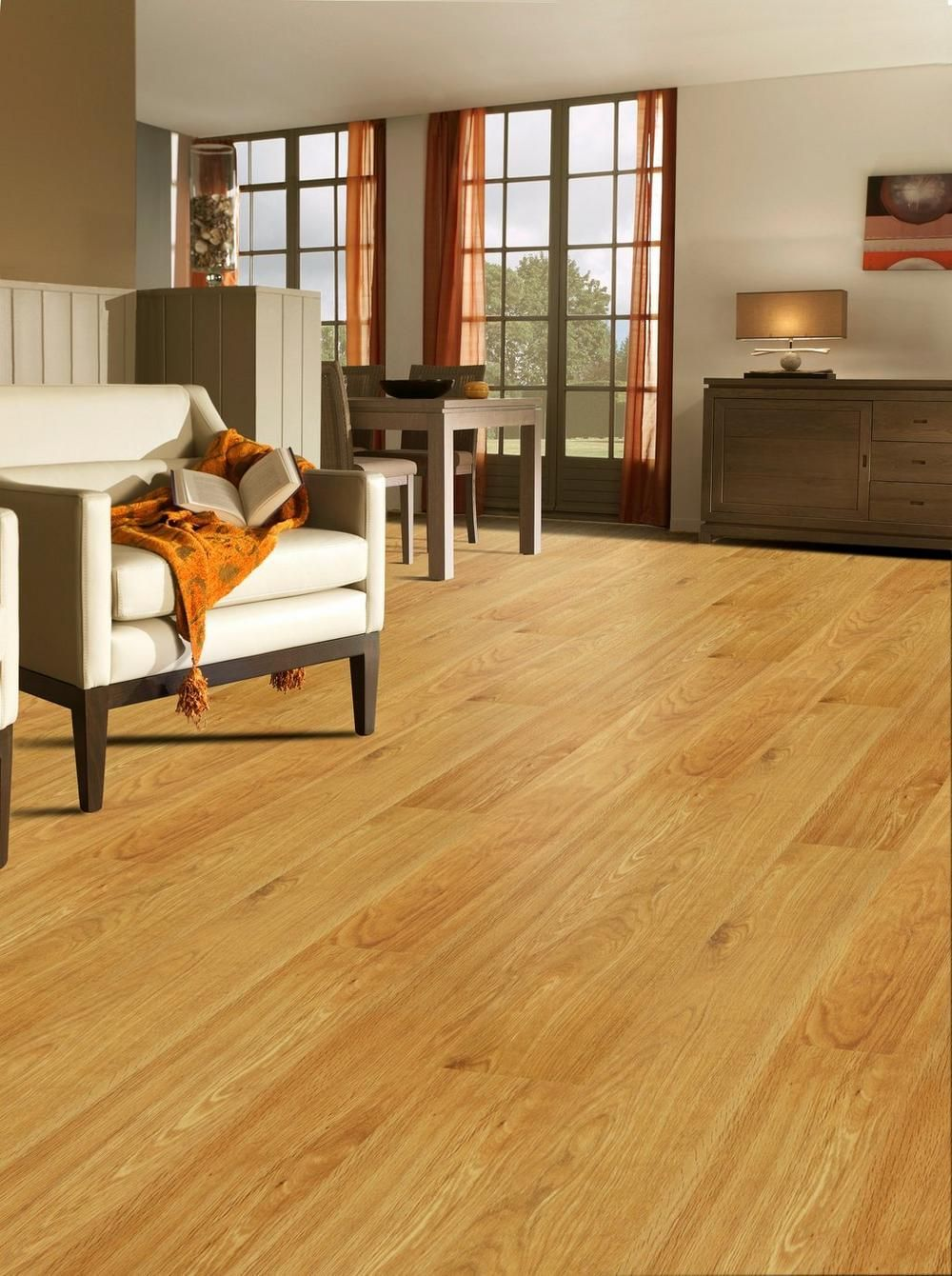 Natural Rustic Oak Smooth Engineered Hardwood (With images