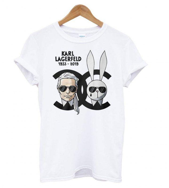 Karl Lagerfeld And Rabbit Chanel T Shirt Karl Lagerfeld Lagerfeld Stylish Tshirts