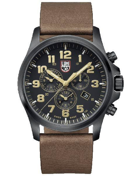 9f0735e4a56 Luminox Atacama Field Mens Chrono Alarm 1940 Series - Brown Leather Strap