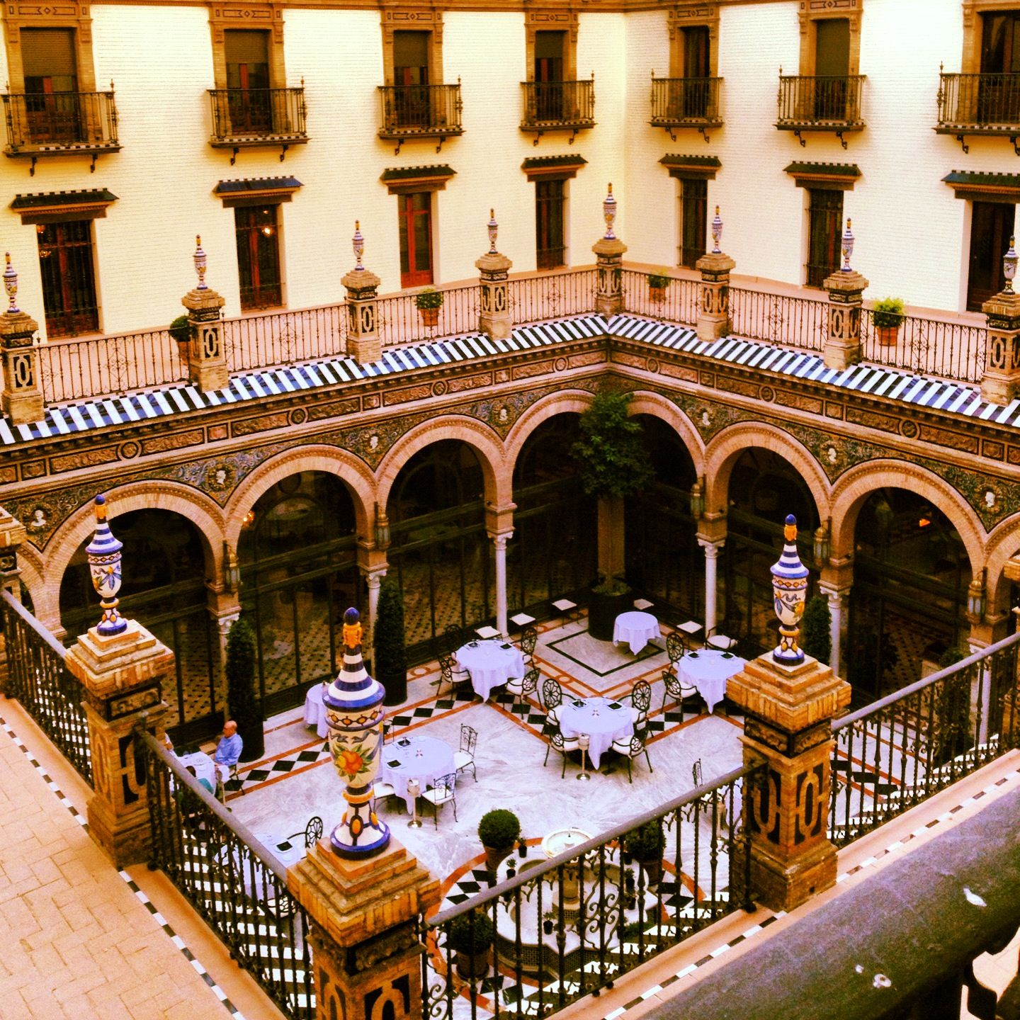 Patio Sevillano Hotel Alfonso Xiii Sevilla Photo By Cecilia Cervantes I Want To Go To There Spain Photography Sevilla Spain Spain And Portugal