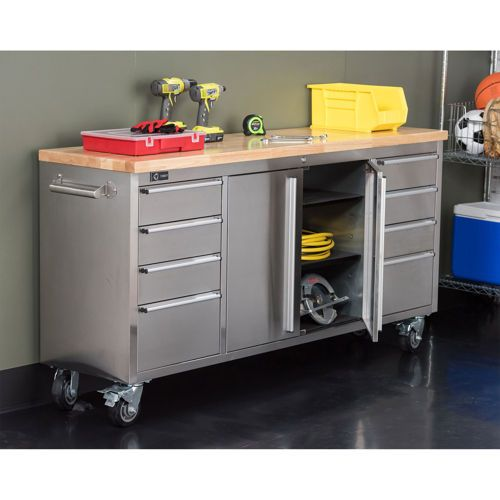 Trinity 72 Quot Stainless Steel Workbench Costco Home