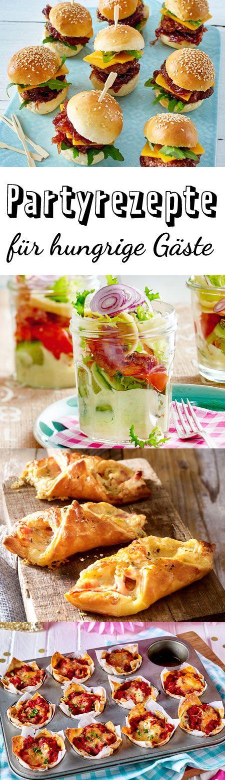 Partyrezepte - das Beste für hungrige Gäste Die besten Partyrezepte für deine Feier. Verwöhnen deine Gäste mit einem Buffet aus leckeren Häppchen, Suppen und Salaten.