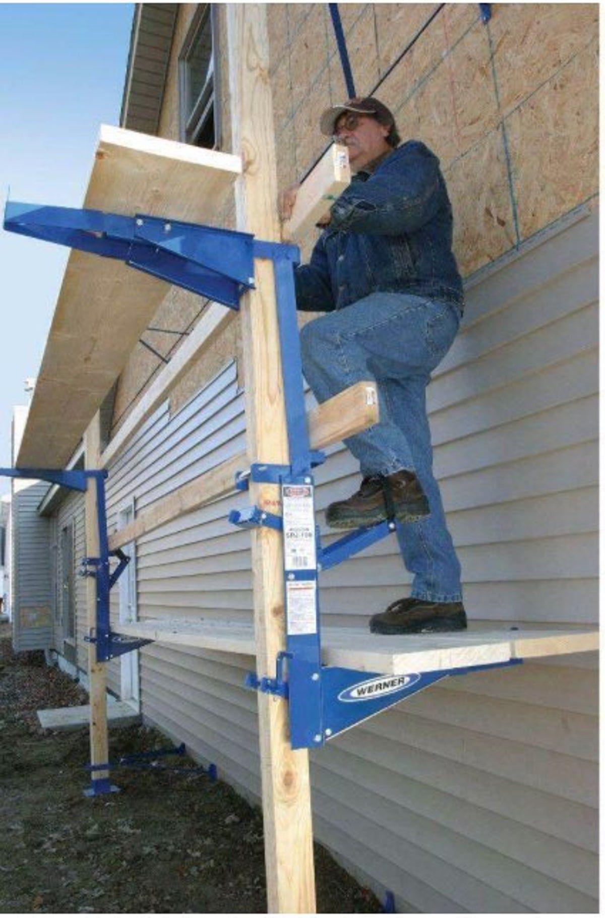 Werner Blue Steel Pump Jack in 2020 Roofing tools