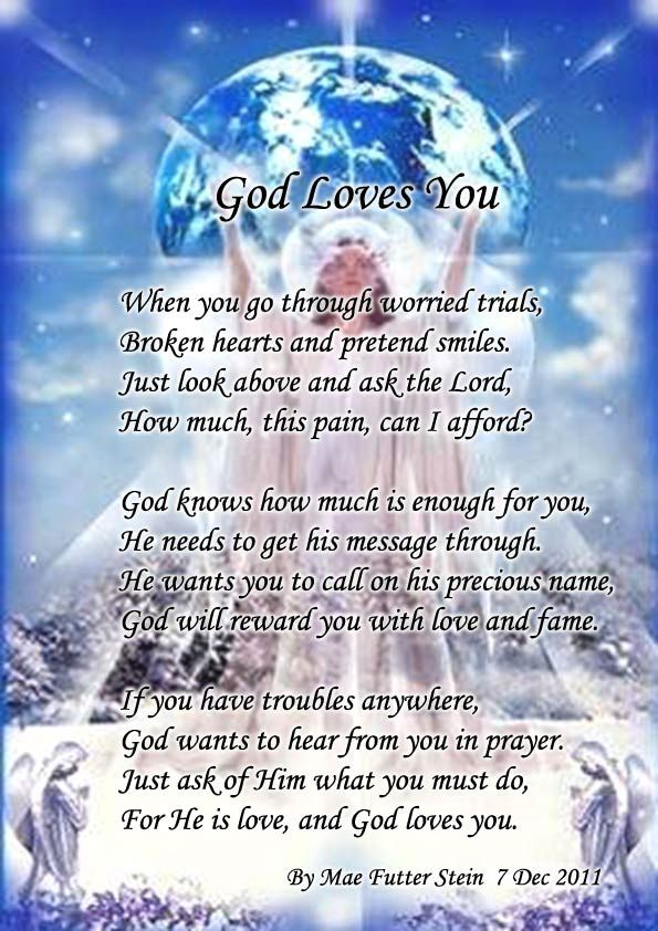 God's+Love+Poem+for+Women | GOD LOVES YOU - Spiritual Poetry and Discussion | God loves you ...