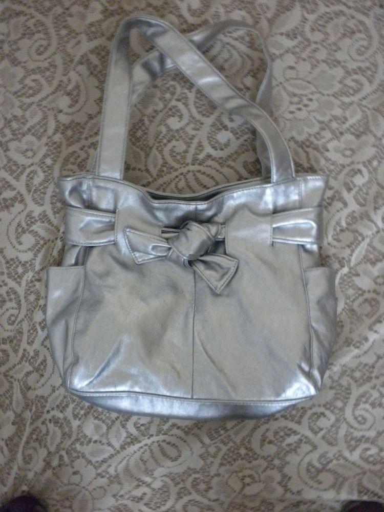 f14873c53462 Silver Metallic Stone Mountain Purse Hand Bag Stonz  StoneMountain  handbag