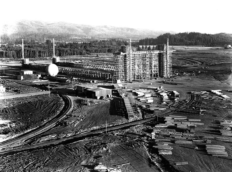 Early Construction at Naval Air Station (NAS) Tillamook