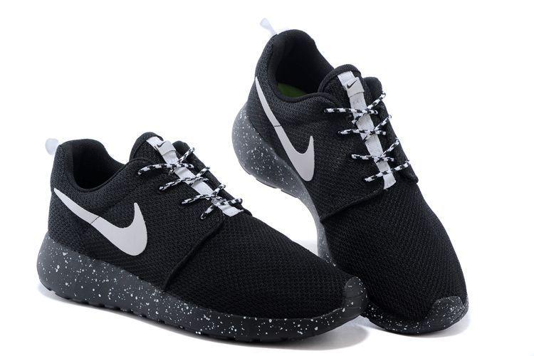 56% off Cheap Womens Nike Roshe Run Id 2015 511881 116 Black Black White