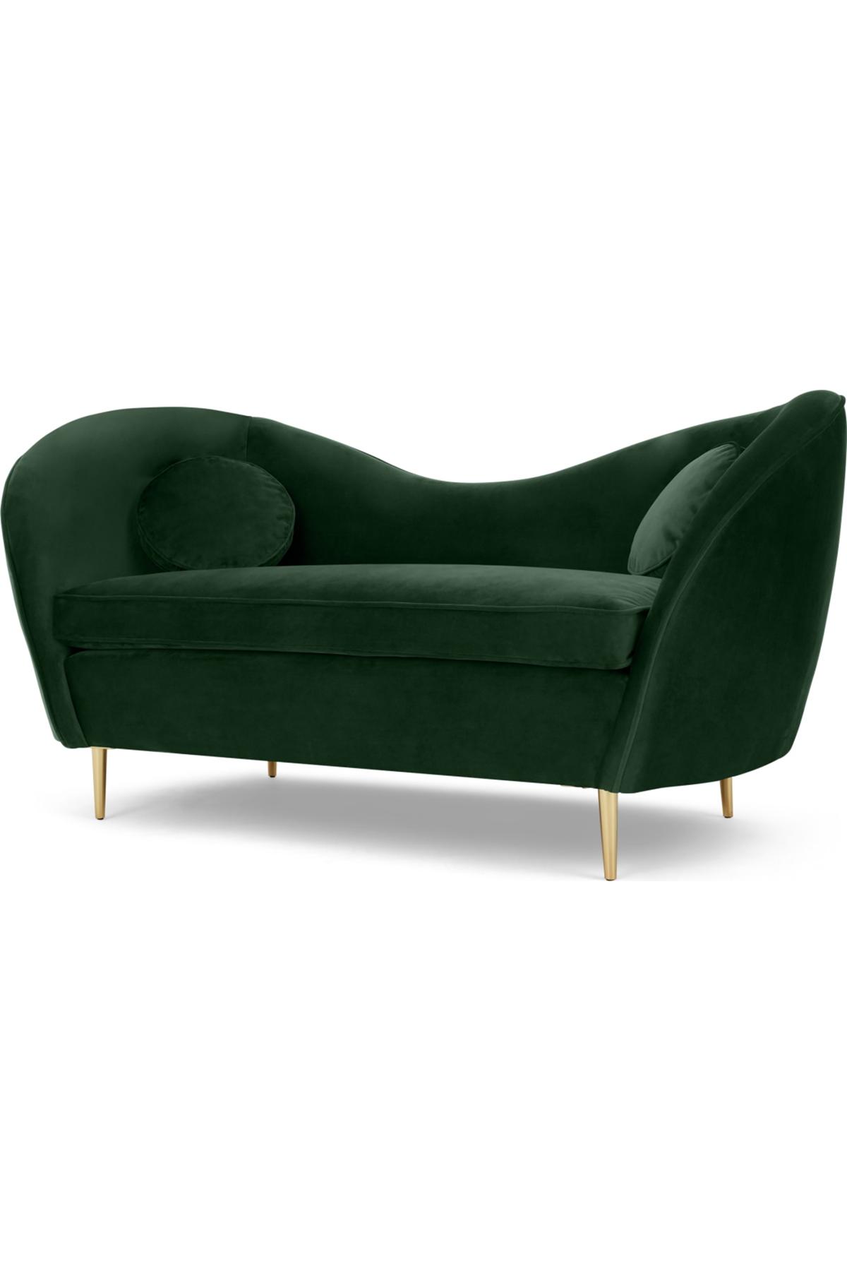 Kooper 2 Seater Sofa, Pine Green Velvet