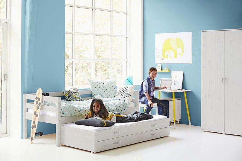 Flexa Einzelbett Ausziehbett Schublade Kinderzimmer