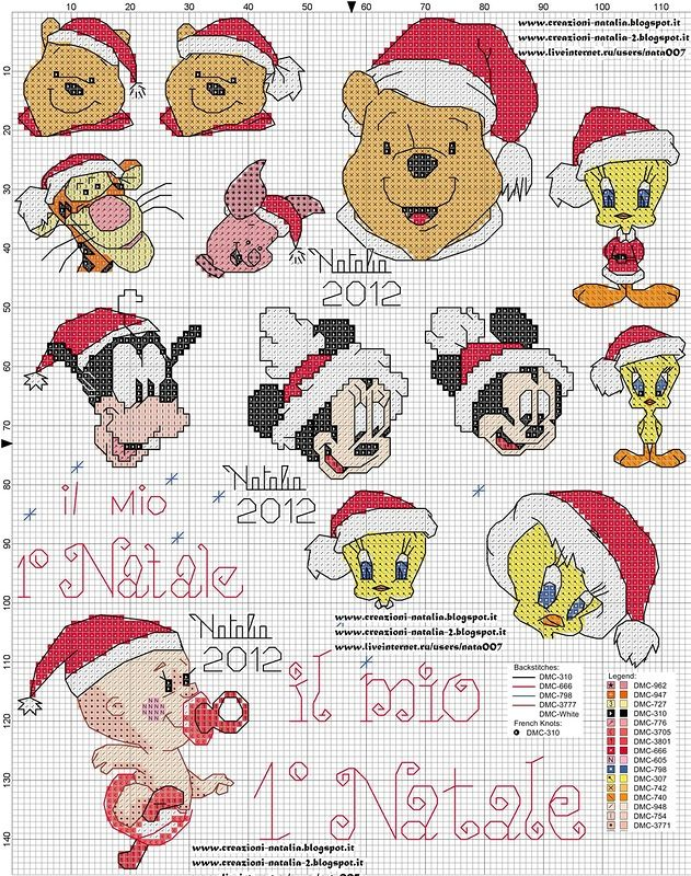 Disney Natalizi | bordados | Pinterest | Punto de cruz navidad ...