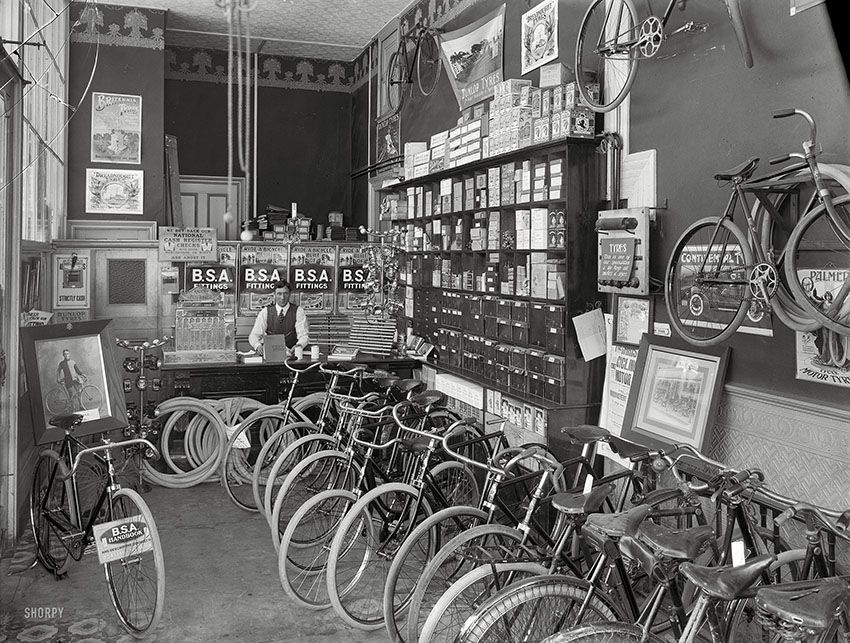 Empire New Zealand Bike Shop Cycle Shop Shorpy Historical Photos