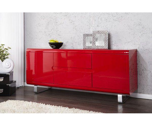 Iinterior I20671 Spacy Komoda Czerwona Lakier Wysoki Polysk 145x45x65cm Komody Internetowy Sklep Meblowy Sfmeble Pl Home Decor Furniture Home