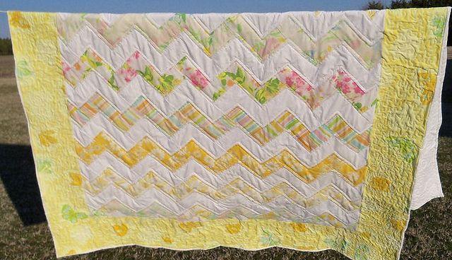 another vintage sheet quilt
