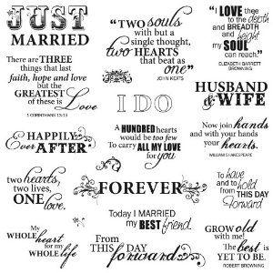 Cute Wedding Sayings