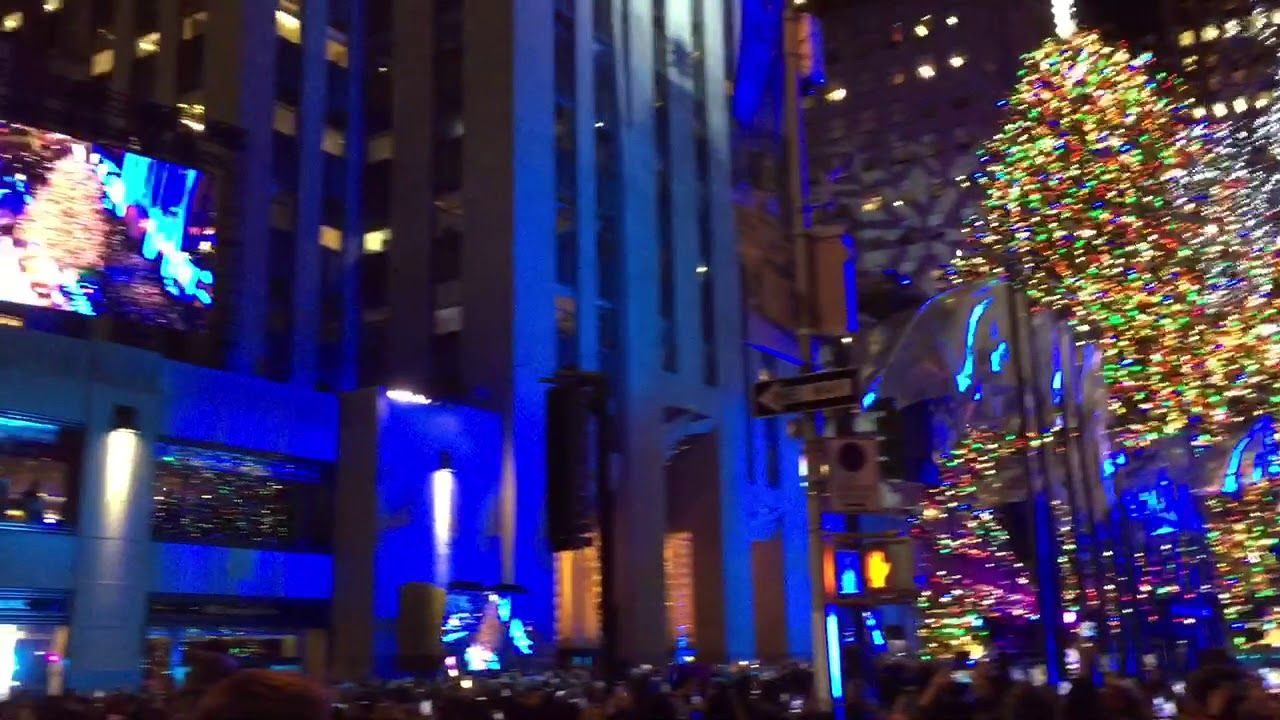 Beautiful 2017 Rockefeller Christmas Tree Lighting LIVE!   YouTube