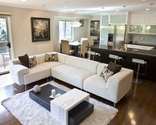 Open Concept Living Room Kitchen Design Pictures Remodel Decor And Ideas P Contemporary Family Rooms Open Concept Living Room Living Room Furniture Layout