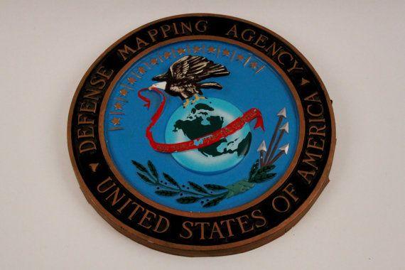 rare vietnam war defense mapping agency agency wall seal the